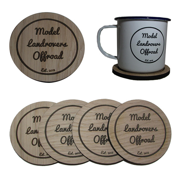 Model Land Rovers Off-Road - Mug Coaster